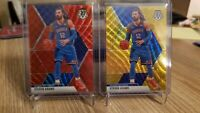 2019-20 Panini Mosaic Tmall Steven Adams Gold and Red Wave Prizm SP SSP Lot of 2