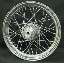 "Chrome Ultima 40 Spoke 16"" x 3.5"" Rear Wheel for Harley FX & XL Models 73-83"