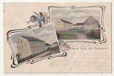 Litho Ak Duftende Grüße aus Rückersdorf Gut Mulle Schule Doberlug Kirchhain 1910