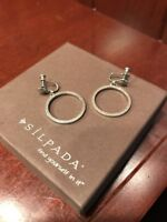 Silpada Rare Retired Hoop Earrings Excellent Condition! Hard To Find