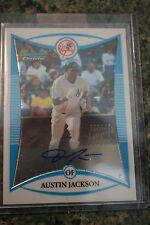 Austin Jackson Topps Bowman Chrome Autographed Rookie Baseball Card BCP246