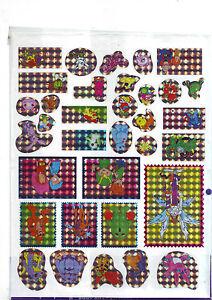 A4 Bogen Manga-Sticker mit 34 verschiedenen Stickern