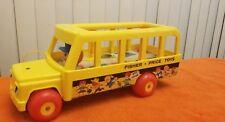 Fisher Price 930 School Bus vintage Little People 60s toy children