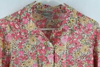 J Jill Pink Floral Blouse Top Women's Petite Small PS