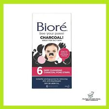 Biore Charcoal Deep Cleansing Pore Strip - 6 Nose Strips SALE!