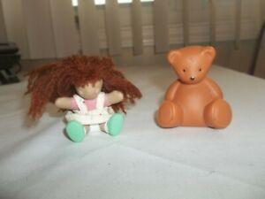 Little Tikes Dollhouse Miniature Ragdoll and Bear