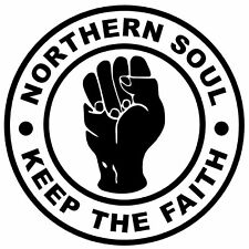 4 X NORTHERN SOUL KTF INSIDE CAR NOVELTY WINDOW / STICKERS - BRAND NEW / GIFTS