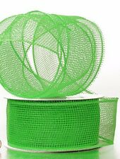 Deco Mesh Apple Green Craft Ribbon 2.5 in 20 yards 61421264 NEW Wreath & Craft