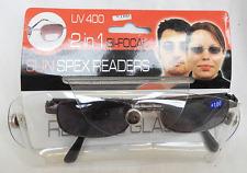 COPPIA di 2 in 1 Bi-focale SUN già SPEX LETTURA occhiali-UV100 +100 - Nuovo con Scatola