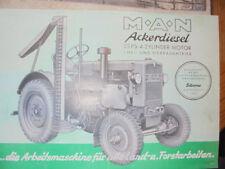 Prospekt Sales Brochure M.A.N. MAN Ackerdiesel Traktor Trecker Technische Daten