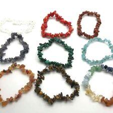 Gemstone Bracelet Raw Natural Chips Stone Beads REIKI Elasticated Handmade UK