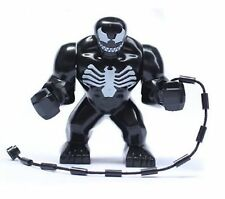 Black Spiderman Venom Super Hero Mini Figure Fits Lego UK SELLER