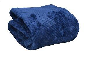 Navy / Dark Blue Sofa / Bed Honeycomb Waffle throw / blanket / double / king