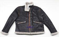 Men D1 mechanics Repro Military Pilot Aviation flight sheepskin Leather jacket