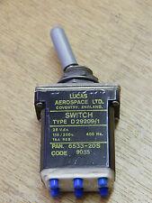 Tornado Aircraft Toggle Switch DPST, PAN.6533-20S [2R6C]
