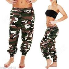 Camouflage Loose Fit Mid Rise Trousers for Women