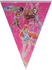 WINX THEMED FLAG BANNER BUNTING BIRTHDAY PARTY SUPPLIES DECORATION