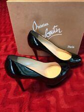 Christian Louboutin Bianca Women's Black Patent Calf Heels Size 10B Euro 40