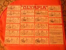 CICLISMO  OLYMPIA  DEPLIANT  BROCHURE  CATALOGO BICICLETTE 1936 ORIGINALE  60X45