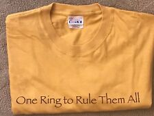 Lord of the Rings Cotton T Shirt One Ring to Rule Them All Movie Trilogy Yellow