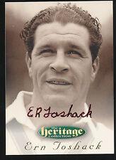 1996 Futera Ern Toshack Signature HeritageCollection Cricket Card no. 4