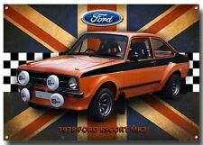 Ford Escort Mk2 1978 Letrero Metal, CLÁSICO COCHES FORD , 1970's RALLY COCHES