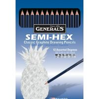 General's Semi-Hex Drawing Pencils Classic Graphite Set  - Set, Classic Graphite