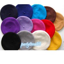 Lady Wool Felt Elegant Beret Beanie Warm Pillbox Hat Tam French Style Cap