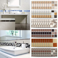 18PCS 3D PVC Mosaic Wall Stickers Waterproof Kitchen Bar Tile Stickers DIY Decor