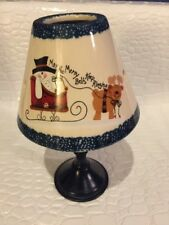 "Christmas Ceramic Candle Lamp ""May The Merry Bells Keep Ringing"""