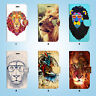 Wild Lion Wallet Case Cover for Samsung Galaxy S3 4 5 6 7 8 Edge Note Plus 057