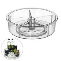 360°Rotating Spice Storage Rack Tray Turntable Home Kitchen Jar Holder Organizer