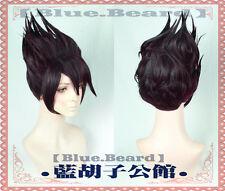 Danganronpa V3: Killing Harmony Momota Kaito Short Purple Mixed Cosplay Hair Wig