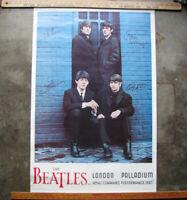 1964 THE BEATLES LONDON PALLADIUM POSTER 24x36 in. NEMS ENTERPRISES vintage