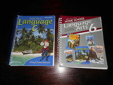 Abeka Language Arts 6 Curriculum/lesson plans te key lot of 2  homeschooling