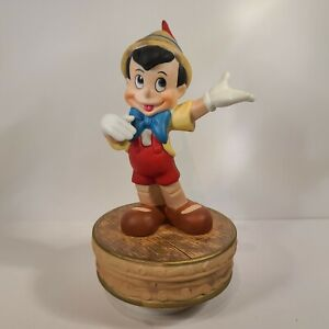 "Pinocchio Golden Anniversary ""I've Got No Strings"" Schmid Music Box VHTF 1990"