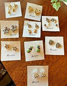 11 Pair AVON Pierced EARRINGS - Mixed Styles