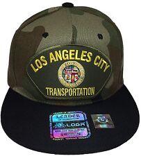 City Of Los Angeles Transportation Hat Color Camo Black Snapback