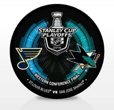 2016 WESTERN CONFERENCE STANLEY CUP FINAL PUCK SAN JOSE SHARKS ST. LOUIS BLUES