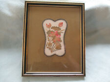 More details for beautiful framed  chinese floral  embroidery rank badge
