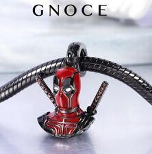Genuine GNOCE New York Deadpool Marvel Sterling Silver Black Plated Charm NEW!