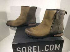 SOREL Womens Emelie Brown Leather Chelsea Ankle Boot Shoes Sz 8.5 ZE-881