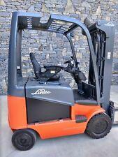 Linde E25C Electric Forklift 5,000lbs, 36v New Batteries
