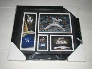 Clayton Kershaw Los Angeles Dodgers Fanatics Plaque & Game Used Baseball Piece