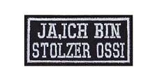 Ja Ich Bin Stolzer Ossi Patch Aufnäher Biker Ostdeutschland Osten Bundesland V2