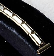 Ladies vintage watch band pyramid links stretch type ends 8mm 9mm 10mm or 11mm