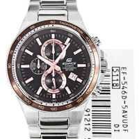Casio EF-546D-5A Men's Edifice Watch EF546 Brown Dial Stainless Steel NEW IN BOX