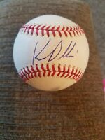KEVIN PILLAR GIANTS SIGNED GAME USED RAWLINGS ROMLB BASEBALL EXACT PROOF.