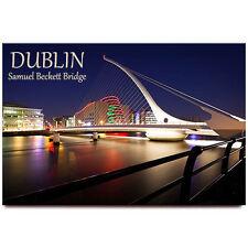 Samuel Beckett Bridge fridge magnet Dublin Ireland travel souvenir