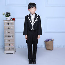 Page Boys Tailcoat Morning Suit 5 Piece Waistcoat Wedding Prom Fashion Party Set